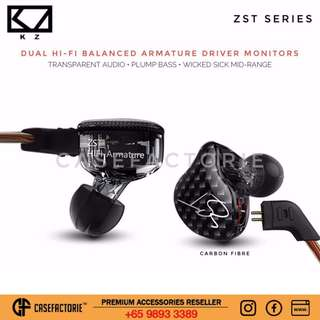 [Carbon Fibre Black] Kz Zst Series Audiophile Wired/wireless Bluetooth Stereo Headphone