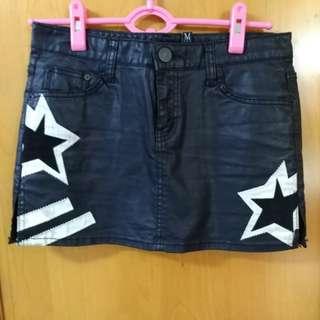 韓國 黑色型內短褲短身裙