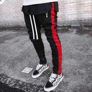 MNML LA Black/Red Track Pants [XS]