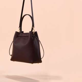 Charles And Keith Drawstring Bucket Bag