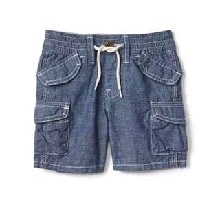 BN GAP Baby Boy Chambray Beachcomber Shorts 6-12mths/12-18mths available!