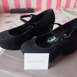 Black wedges suede