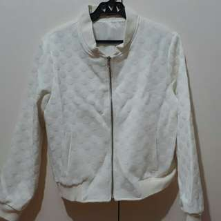 White Jacket (Leather Back)