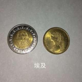 埃及硬幣兩個