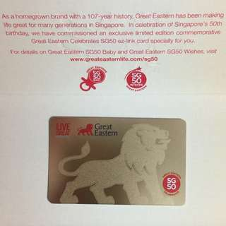 Limited Edition brand new Great Eastern SG50 Gold Card With Nice SG50 Folder For $25.