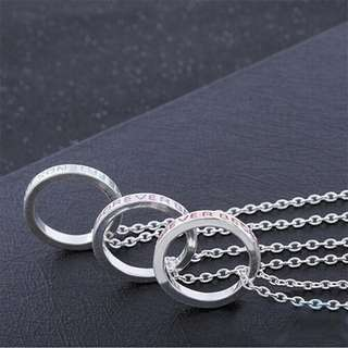 """BEST FRIENDS FOREVER"" Ring Necklace Set"