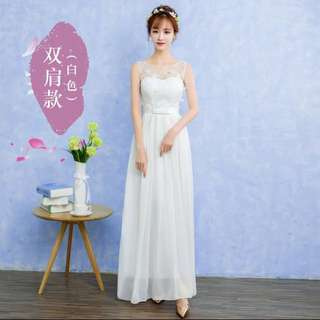 Bridemaid White Long Dress