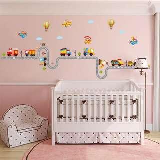 DIY Cartoon Car wall stickers children's room kindergarten wall decoration/Home Decor