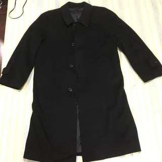 🚚 日製純克什米爾羊毛黑大衣