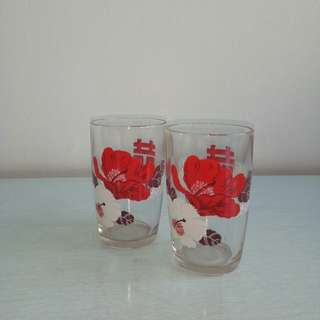 60s Glass mint condition 2pcs $15