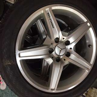 Rim merc AMG 17 inch with tyre