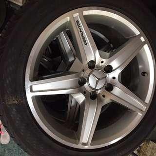 Rim merc AMG 17 inch with tyre