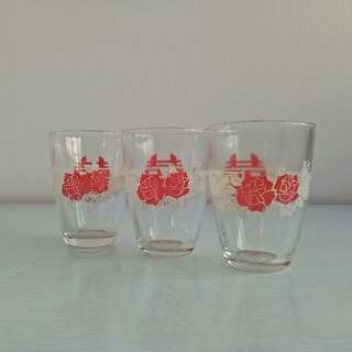 60s Glass Cup perfect 3pcs $15