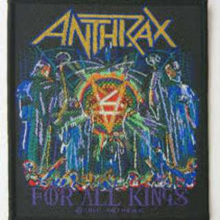 Anthrax - For All Kings Woven Patch Official THrash Metal Merch Band Accessories