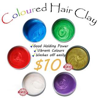 [$10 Coloured Hair Clay]