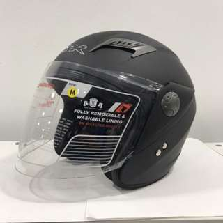 Motorcycle Half Face Helmet GPR GS08 Matt Black