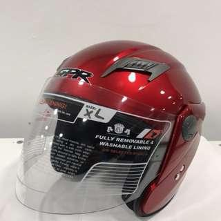 GPR GS08 Half Face Helmet Motorcycle Wine Red