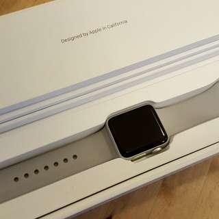 Apple Watch Series 3 38mm Silver Aluminum Fog Sport Band (GPS)