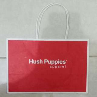 Paperbag / Paper Bag / Tas Karton Branded Hush Puppies Small