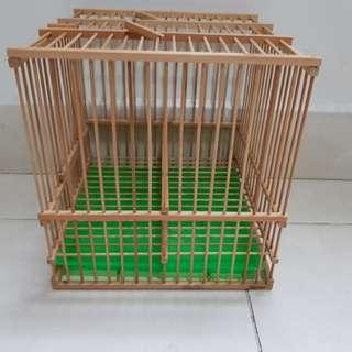 Square bird cage