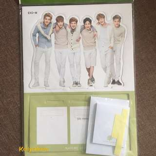 EXO M Standee & Sticky Note Nature Republic