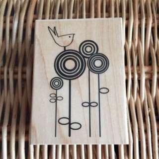 Hampton Art Wood Mounted Rubber Stamp