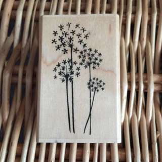 Hampton Art Wood Mounted Rubber Stamp