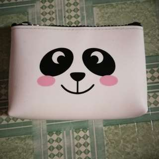 Panda square coins and card wallet