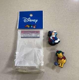 Disney Jibbitz mickey and Pooh shoe charms for crocs