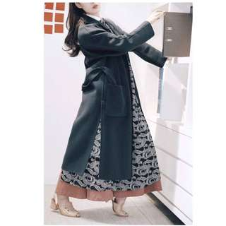 Dresscode  cashmere 訂製大衣 烏石藍