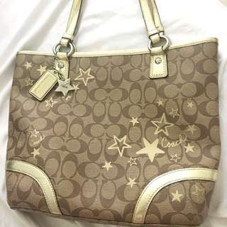 Authentic COACH Christmas limited edition star series hand tote bag