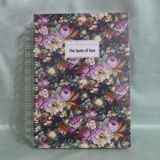 Floral Notebook with dividers (sealed)