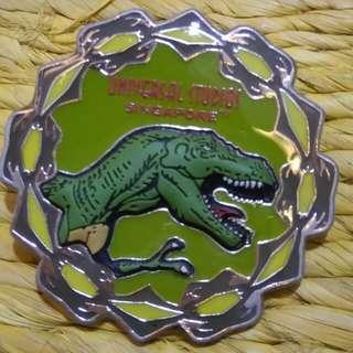 #horegajian Jurassic Park US Singapore Enamel Pin