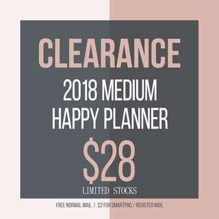 2018 MEDIUM HAPPY PLANNER SALES