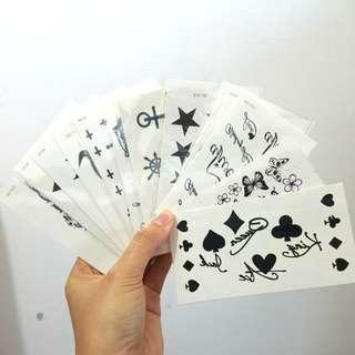 17張黑白 紋身貼