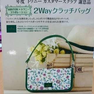 英國皇室御用品牌minton twany日本雜誌款可愛花朵 多功能兩用 證件包 護照套