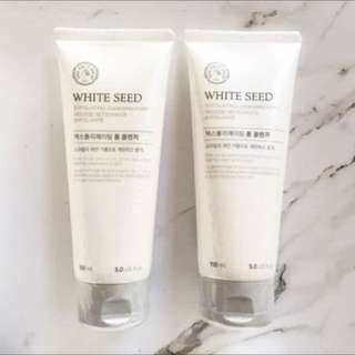 THE FACE SHOP's White Seed Exfoliating Cleansing Foam