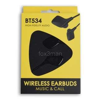 限時清貨 黑色 BT534 立體聲 充電 掛頸藍牙音樂耳機 有咪可聽電話 iPhone iPad 適用
