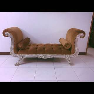 Brown Velvet Wedding Sofa for Pelamin (Rental)
