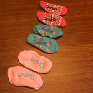 Skechers socks for little girls