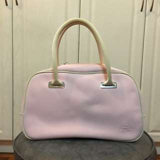 Lacoste Baby Pink Hand Bag (Authentic - with small stain)