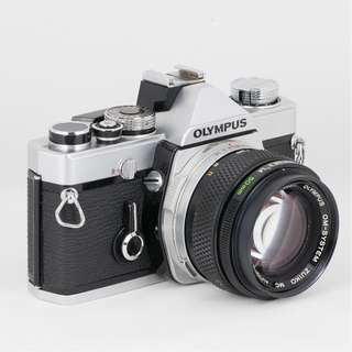Olympus OM-1 Film SLR with OM 50mm f/1.4 Lens (Excellent Condition)