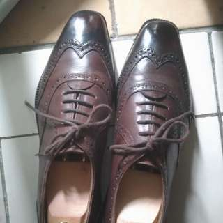 Oxford wingtip dress shoes koku footwear | sagara junkard txture brodo