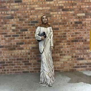 Zalia Gold Sequin Dress for RENT