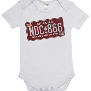Customised baby romper (licensed plate edition)