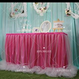 Table cloth for wedding/birthday/baby shower parties