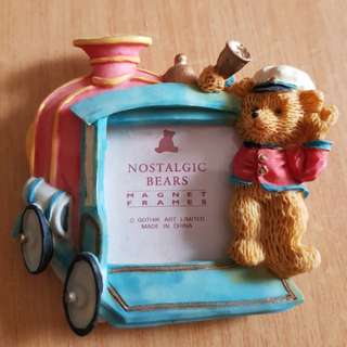 Nostalgic bears fridge magnet photo frame