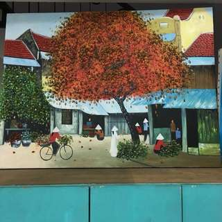 Tree painting from Vietnam (3D)