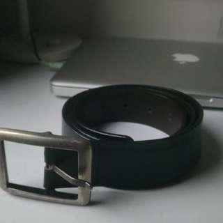 Belt hitam poshboy genuine leather | ikat pinggang pria sabuk gesper