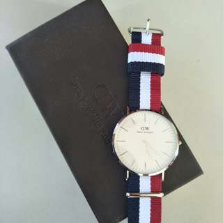 Daniel Wellington Classic Cambridge - watch silver 40 mm